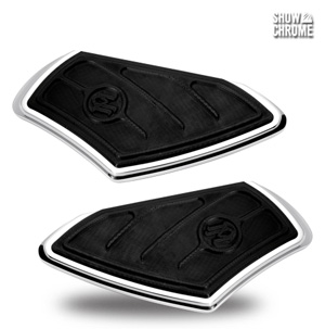 Performance Machine Passenger Contour Floorboards In Chrome Finish For Harley Davidson 1986-2016 Models (0036-1001-CH)