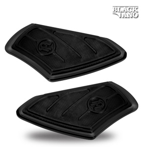 Performance Machine Passenger Contour Floorboards In Black Finish For Harley Davidson 1986-2016 Models (0036-1001-B)
