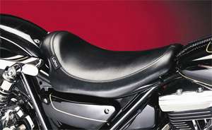 Le Pera Silhouette Foam Solo Seat With Smooth Cover For 1982-1994 FXR Models (L-858)