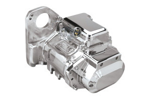 Jims USA 5-Speed Transmission Assembly With Polished Aluminium Case With Close Ratio For 1990-1999 Softail Models (8004)