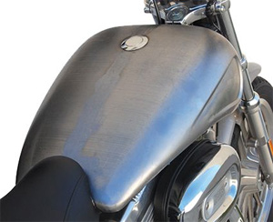 Custom Chrome Stretched Indented 4 Gallon Tank For 07-19 Sportster Motorcycles (629446)