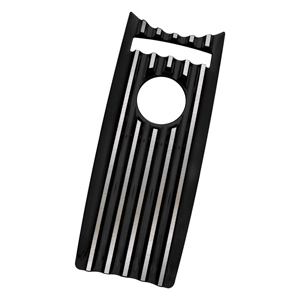 Covington Customs Black Dash Panel Insert For Harley Davidson 08-17 Road King Motorcycles (C1233-B)