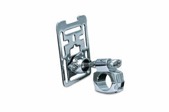 Kuryakyn Premium XL Handlebar Accessory Mount for 1-1/4 Inch Handlebars In Chrome Finish (1681)