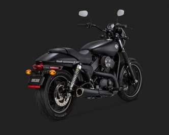 Vance & Hines Competition Series Slip-Ons In Black For Harley Davidson 2015-2020 Street and Street Rod Motorcycles (47937)