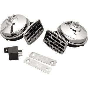 Drag Specialties Dual Electrical Horn In Chrome For All H-D Motorcycles (11-6139-LBX1)