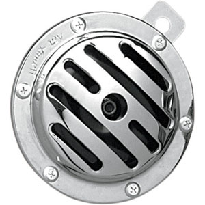 Drag Specialties Slotted Electrical Horn In Chrome For All H-D Motorcycles (75595-PBBX1)