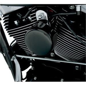 Drag Specialties Smooth Horn Cover In Black For 1993-2020 Big Twin & XL Models (76705B4)