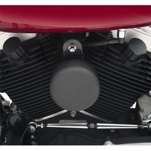 Drag Specialties Smooth Horn Cover In Black Wrinkle For 1993-2020 Big Twin & XL Models (2107-0046)
