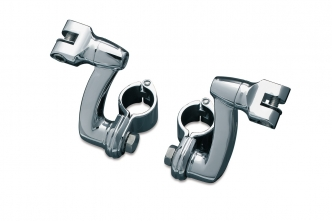 Kuryakyn Longhorn Offset Mounts With 1-1/4 Inch Magnum Quick Clamps In Chrome Finish (7986)