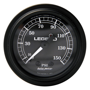 Legend Air Suspension Air Gauge In Black (2212-0484)
