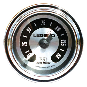 Legend Air Suspension Air Gauge In Spun Aluminium (2212-0492)