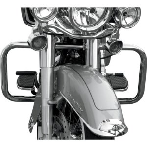Drag Specialties Big Buffalo Front Engine Bars In Chrome Finish For 09-20 FLHT, FLHR, FLHX and H-D FL Trike Without Lowers (05060500)