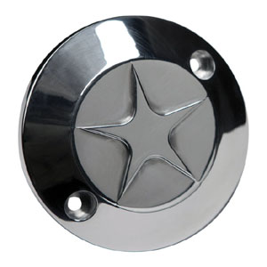 CPV Aluminium Star Point Cover In Polished Finish For 1970-1999 B.T And 1971-2011 XL Models (ARM655279)