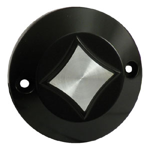 CPV Diamond Point Cover In Black Finish For 1970-1999 B.T And 1971-2011 XL Models (ARM610379)