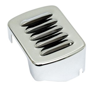 DOSS Louvered Coil Cover In Chrome Finish For All 65-84 4-Sp B.T. And 84-99 Softail Models (ARM553915)
