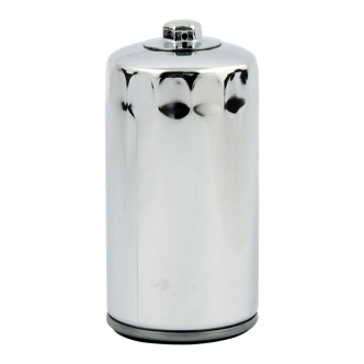 DOSS Spin-On Oil Filter With Top Nut in Chrome Finish For 1991-1998 Dyna Glide Models (ARM325805)