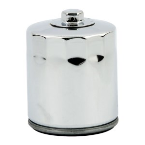 DOSS Spin On Oil Filter In Chrome Finish With Top Nut For 02-17 V-Rod (Repl. 63793-01K) (ARM235805)