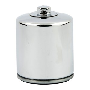K&N Spin On Oil Filter For 02-17 V-Rod In Chrome Finish With Top Nut (Repl. 63793-01K) (ARM408079)