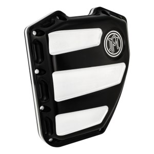 Performance Machine Scallop Design Twin Cam Cover In Contrast Cut Finish For 01-17 Softail, Dyna (0177-2020-BM)