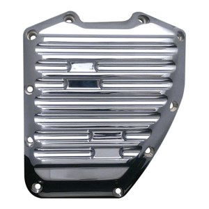 Covingtons Customs Finned Design Billet Cam Cover In Chrome Finish For 01-17 Twin Cam (ARM649359)