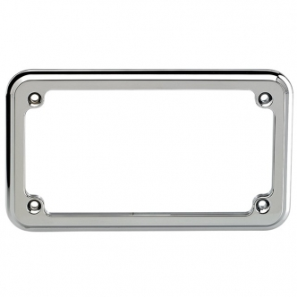 Joker Machine Thru Hole License Plate Frame Chrome - Flat Head Screws (910915C)
