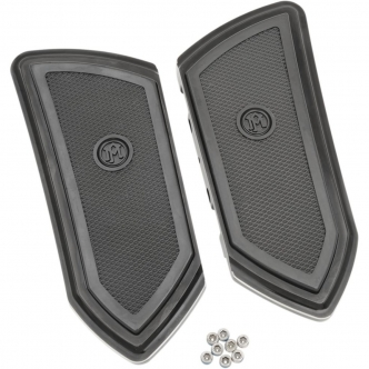 Performance Machine F.T.Z. Passenger Floorboards In Black For Harley Davidson 1986-2017 Models (0036-1009-BM)