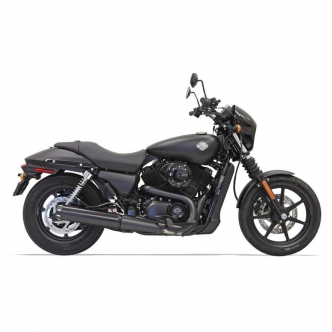 Bassani Muffler 4 Inch Straight Can Style Street Exhaust in Black Finish For 2015-2020 Street Models (1587RB)