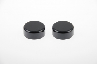 Cult Werk Fork Tube Caps in Gloss Black Finish For 2013-2017 FXSB Breakout, 2007-2017 Dyna, 2002-2011 V-Rod Models (HD-UNI036)