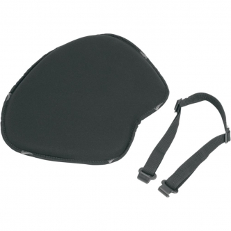 Saddlemen Solo Seat Pad Soft Stretch XL Front Fabric Saddlegel in Black Finish (200J)