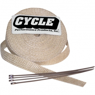 Cycle Performance Wrap Exhaust Pipe 2 Inch x 100 in Natural Finish (CPP/9043-100)