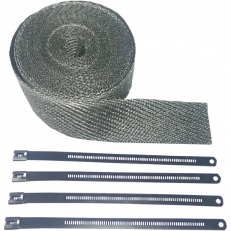 Cycle Performance Exhaust Wrap Kit in Black Stainless Steel Steel Finish 2 Inch x 25 (CPP/9142)