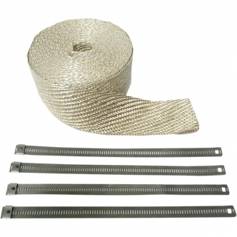Cycle Performance Exhaust Wrap Kit in Natural Stainless Steel Finish 2 Inch x 25 (CPP/9143)