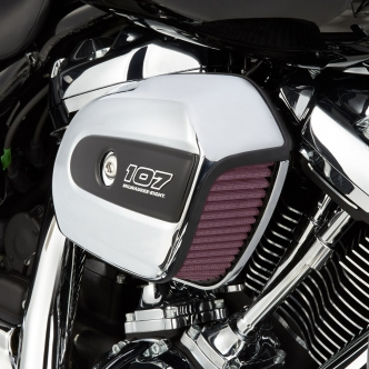 Arlen Ness Big Sucker Air Cleaner Kit With Chrome Backing Plate For Harley Davidson 2017-2020 Harley Davidson Touring Models (18-458)
