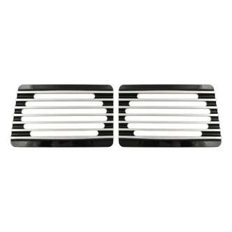 Covingtons Customs Speaker Grills Finned in Black Finish For Cycle Sounds Lids Models (C0023-B)