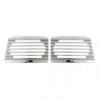 Covingtons Speaker Grills Finned in Chrome Finish For Cycle Sounds Lids Models (C0023-C)