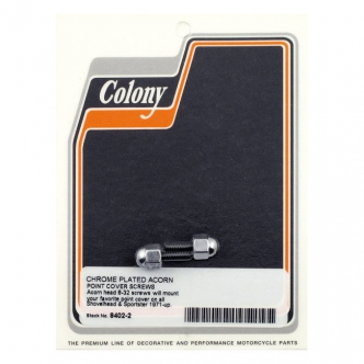 Colony Point Cover Screws in Acorn Style Finish For 1971-1999 B.T. (Excluding Twin Cam), 1971-2003 XL Models (ARM005929)