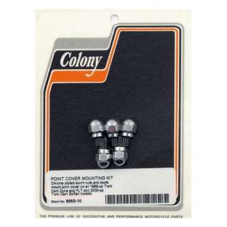 Colony Point Cover Screws, Acorn Style in Chrome Finish For 1999-2016 TCA/B, 2004-2016 XL Models (ARM860929)