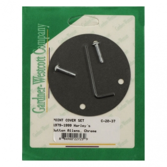 Gardner Westcott Point Cover Mount Kit Including Gasket & Wrench in Chrome Button For 1979-1999 B.T. (Excluding TC), 1979-2003 XL Models (ARM588405)
