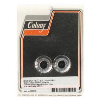 Colony Motor Mount Spacers Spaces Out 2 Longest Headbolts in Chrome Finish For 1937-1973 45 Inch SV Models (ARM276989)