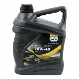 Eurol 4 Litre Mineral Engine Oil 10W40 SG JASO-MA Suitable For Wet Clutches (ARM344955)