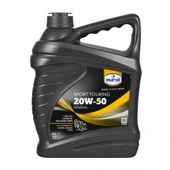 Eurol 4 Litre Mineral Engine OIL 20W50 SG JASO-MA Suitable For Wet Clutches (ARM144955)