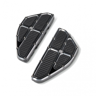 Roland Sands Design Passenger Floorboard, Traction in Contrast Cut Finish For 1984-2018 FLH, 1984-2017 FLST, 1984-2017 FLS, 2012-2016 FLD Models (0036-1013-BM)