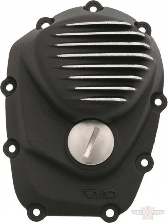 EMD Ribbed Cam Cover in Black Cut Finish For 2017-2020 Touring, 2018-2020 Softail Models (CCM8/R/BC)