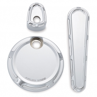 Arlen Ness Beveled Dash Accessory Pack In Chrome For Harley Davidson 2008-2013 FLHX/FLTRX Motorcycles (91-114)