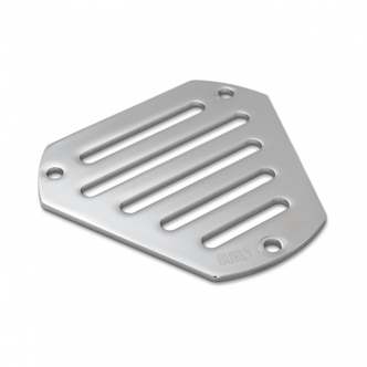 Burly Brand Face Plate Slotted in Chrome Finish Stock Replacement For Burly Hex Air Cleaner (0206-0179-CH)