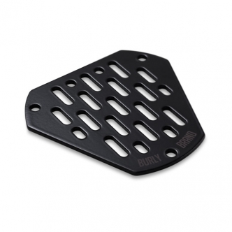 Burly Brand Face Plate MX in Black Finish Optional For Burly Hex Air Cleaners (0206-0181-B)