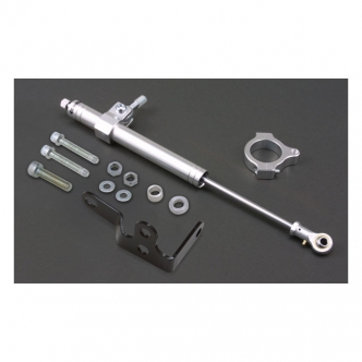 DOSS Steering Damper Kit in Silver Aluminium Finish For 2007-2017 Most XL Models (ARM410059)