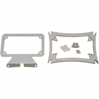 Motherwell Chrome Maltese License Plate Frame for Harley Davidson Touring Models (MWL-862-CH-OR1)
