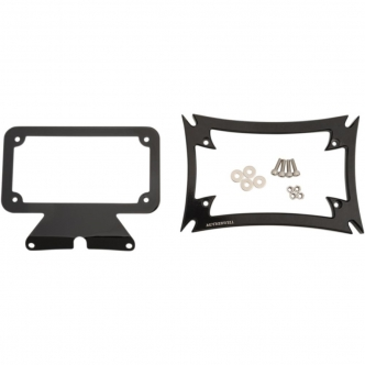 Motherwell Gloss Black Maltese License Plate Frame for Harley Davidson Touring Models (MWL-862-GB-OR1)
