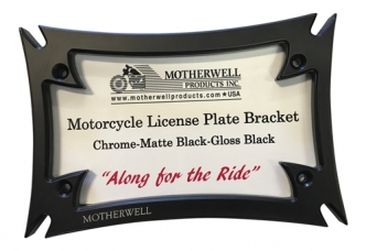 Motherwell Gloss Black Maltese License Plate Frame (Frame Only) (DC-862-GB)